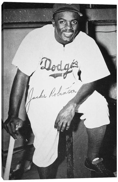 Jackie Robinson (1919-1972) Canvas Art Print