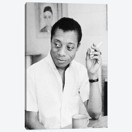 James Baldwin (1924-1987) Canvas Print #GER263} by Unknown Art Print