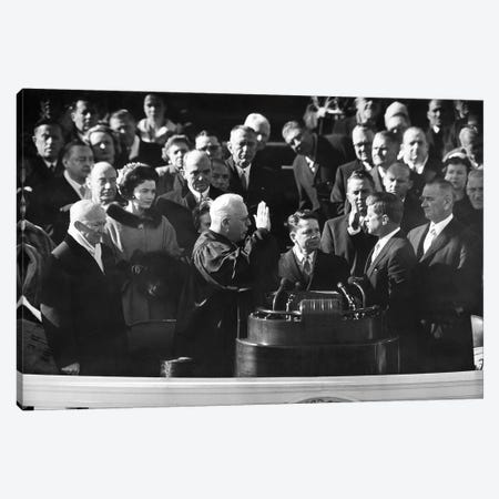 John F Kennedy Canvas Print #GER281} by Unknown Canvas Print
