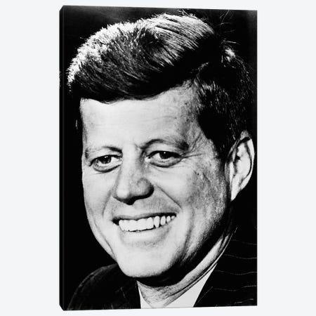 John F Kennedy 3-Piece Canvas #GER285} by Unknown Canvas Art