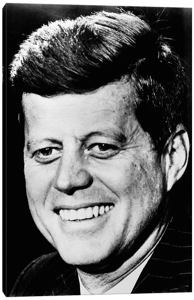 John F Kennedy Canvas Art Print