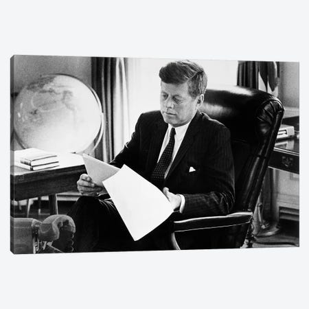John F Kennedy Canvas Print #GER286} by Unknown Canvas Artwork