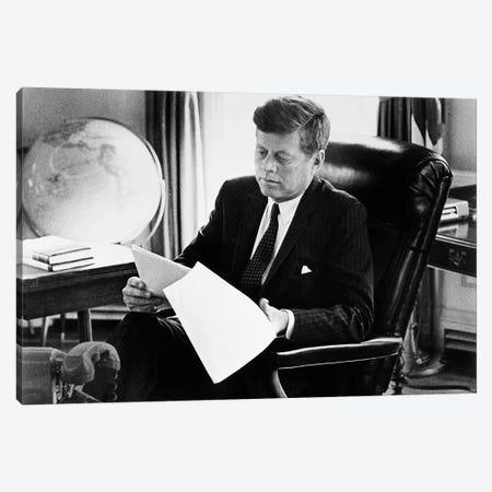 John F Kennedy Canvas Print #GER286} by Unknown Canvas Artwork