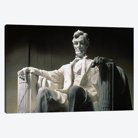 Lincoln Memorial: Statue Canvas Print #GER28} by Daniel Chester French Canvas Art Print