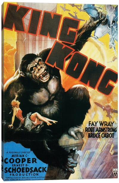 King Kong Poster, 1933 Canvas Art Print