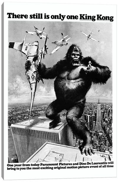 King Kong, 1976 Canvas Art Print