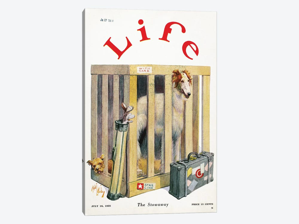 Magazine: Life, 1925 by Unknown 1-piece Canvas Wall Art