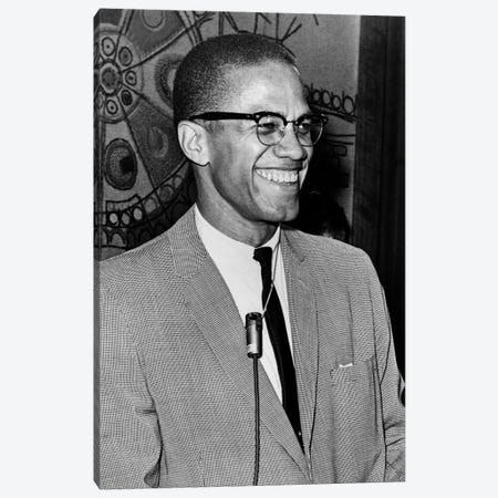 Malcolm X (1925-1965) Canvas Print #GER30} by Ed Ford Canvas Wall Art