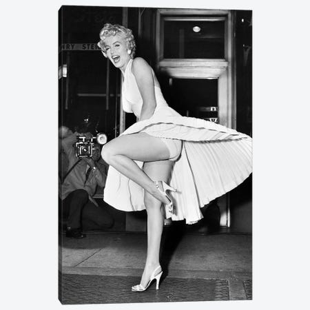 Marilyn Monroe (1926-1962) Canvas Print #GER312} by Unknown Canvas Print