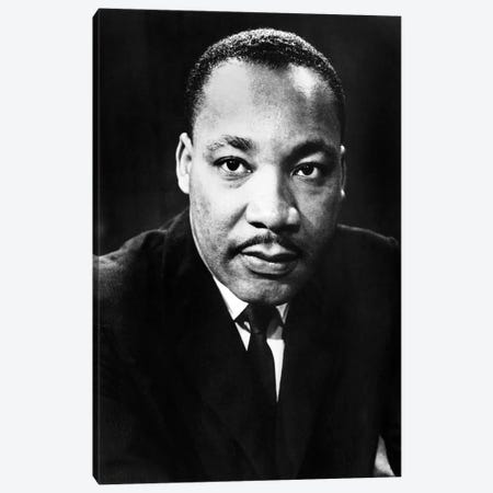 Martin Luther King, Jr Canvas Print #GER314} by Unknown Canvas Artwork