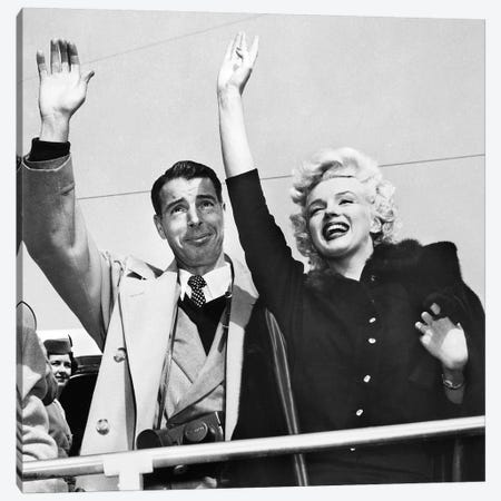 Monroe & Dimaggio, C1954 Canvas Print #GER317} by Unknown Canvas Art
