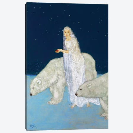 The Ice Maiden, 1915 Canvas Print #GER31} by Edmund Dulac Canvas Wall Art