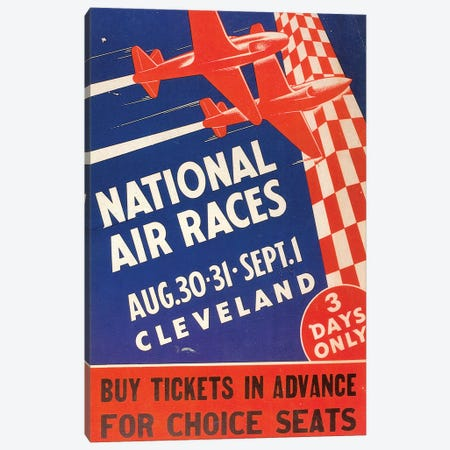 National Air Race Poster Canvas Print #GER320} by Unknown Canvas Wall Art