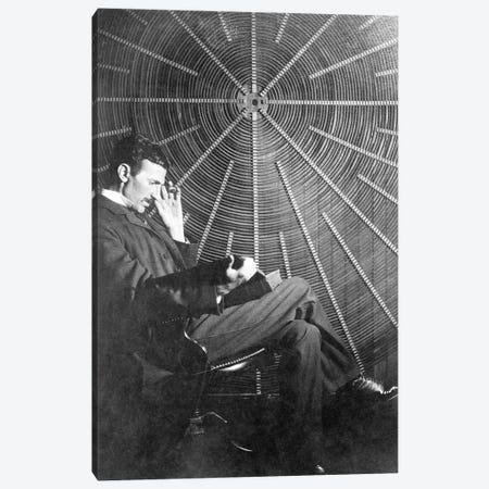 Nikola Tesla (1856-1943) Canvas Print #GER322} by Unknown Canvas Artwork