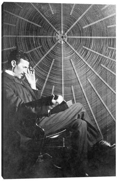 Nikola Tesla (1856-1943) Canvas Art Print