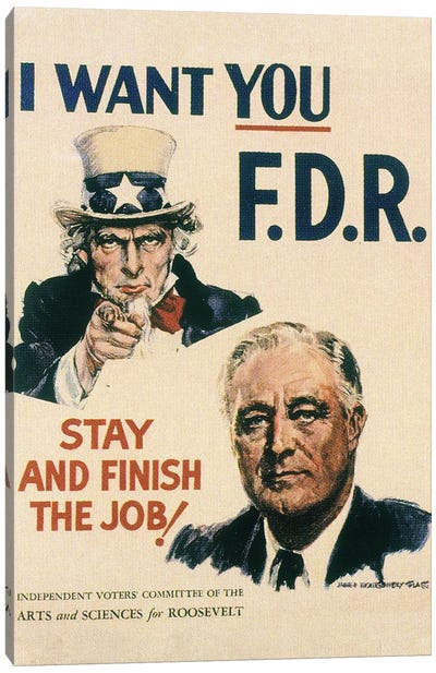 Presidential Campaign, 1940 Canvas Art Print