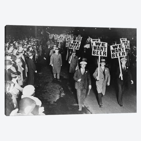 Prohibition Protest, 1931 Canvas Print #GER331} by Unknown Canvas Print