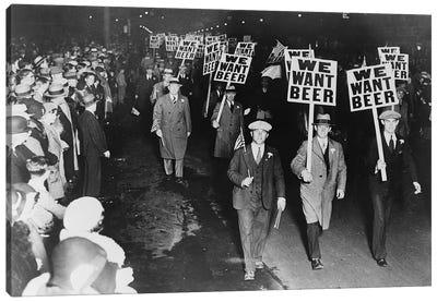 Prohibition Protest, 1931 Canvas Art Print