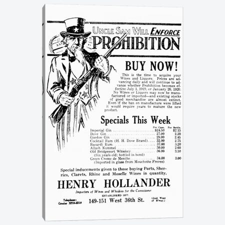 Prohibition, 1919 Canvas Print #GER333} by Unknown Canvas Print