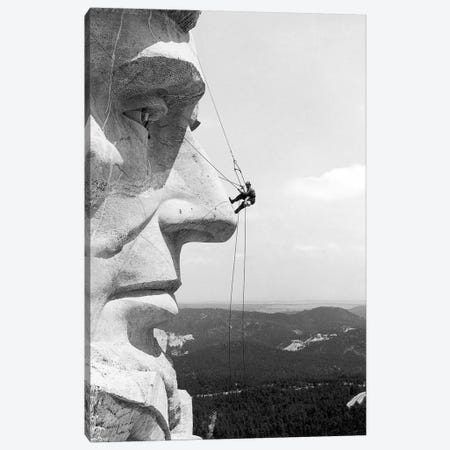 Scaling Mount Rushmore Canvas Print #GER344} by Unknown Art Print