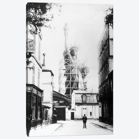 Statue Of Liberty, Paris Canvas Print #GER354} by Unknown Canvas Artwork