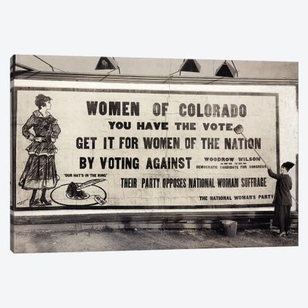 Suffrage Billboard, 1916 Canvas Print #GER355} by Unknown Canvas Art