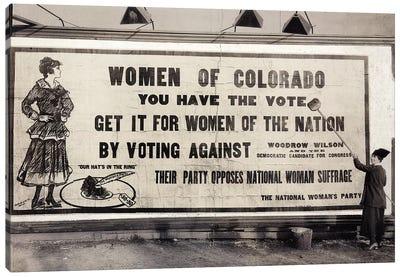 Suffrage Billboard, 1916 Canvas Art Print
