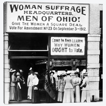 Suffrage Headquarters Canvas Print #GER356} by Unknown Canvas Art