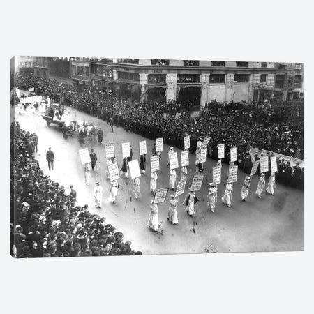 Suffrage Parade, 1913 Canvas Print #GER357} by Unknown Canvas Wall Art