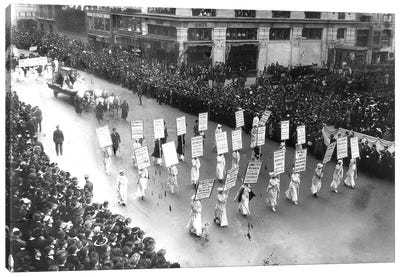 Suffrage Parade, 1913 Canvas Art Print