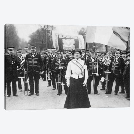 Suffragette Parade, 1908 Canvas Print #GER358} by Unknown Canvas Print