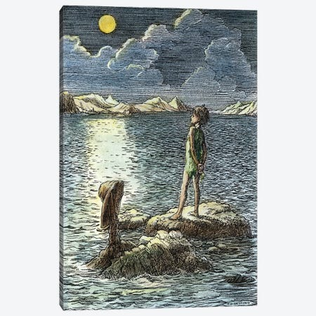 Barrie: Peter Pan, 1911 Canvas Print #GER35} by Francis D. Bedford Canvas Print