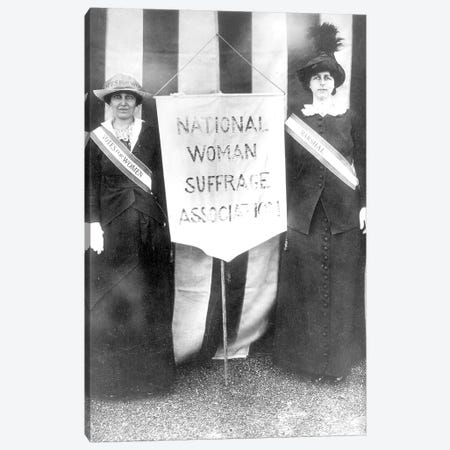 Suffragettes, 1913 Canvas Print #GER360} by Unknown Canvas Artwork