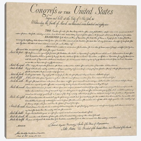 The Bill Of Rights, 1789 Canvas Print #GER370} by Unknown Canvas Print