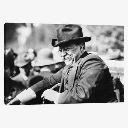 Theodore Roosevelt (1858-1919) Canvas Print #GER375} by Unknown Canvas Art