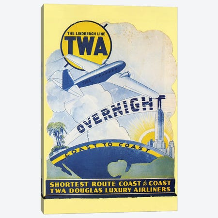 Trans-World Airlines 1934 Canvas Print #GER377} by Unknown Canvas Art