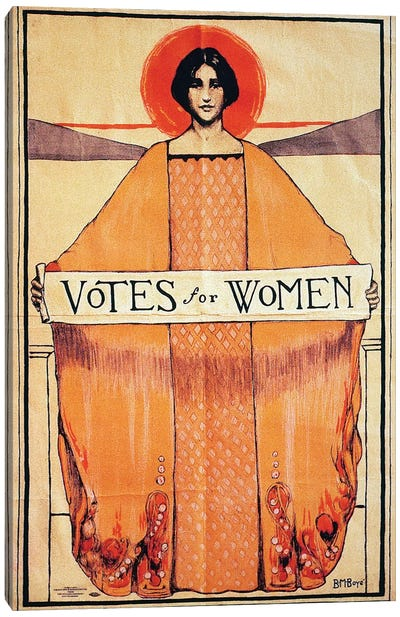 Votes For Women, 1911 Canvas Art Print