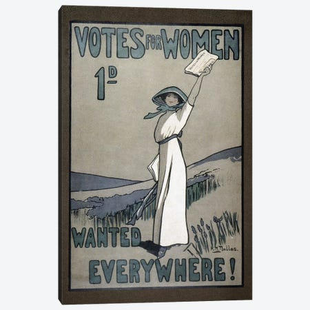 Women's Rights, C1907 Canvas Print #GER388} by Unknown Canvas Wall Art