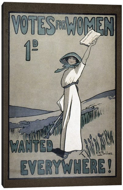 Women's Rights, C1907 Canvas Art Print