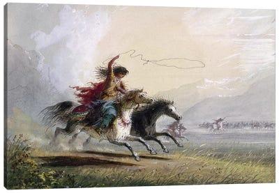 Miller: Shoshone Woman Canvas Art Print