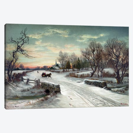 Christmas Morn, C1885 Canvas Print #GER401} by W.C. Bauer Art Print