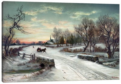Christmas Morn, C1885 Canvas Art Print