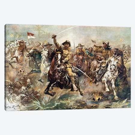 Cuba: Rough Riders, 1898 Canvas Print #GER402} by W.G. Read Canvas Print