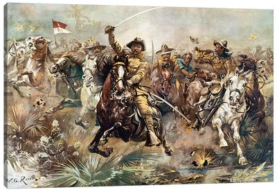 Cuba: Rough Riders, 1898 Canvas Art Print