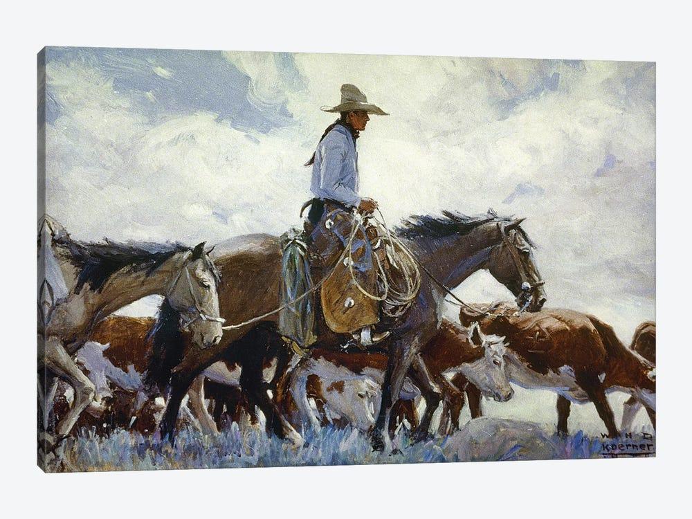 Koerner: Cowboy, 1920 by W.H.D. Koerner 1-piece Canvas Artwork