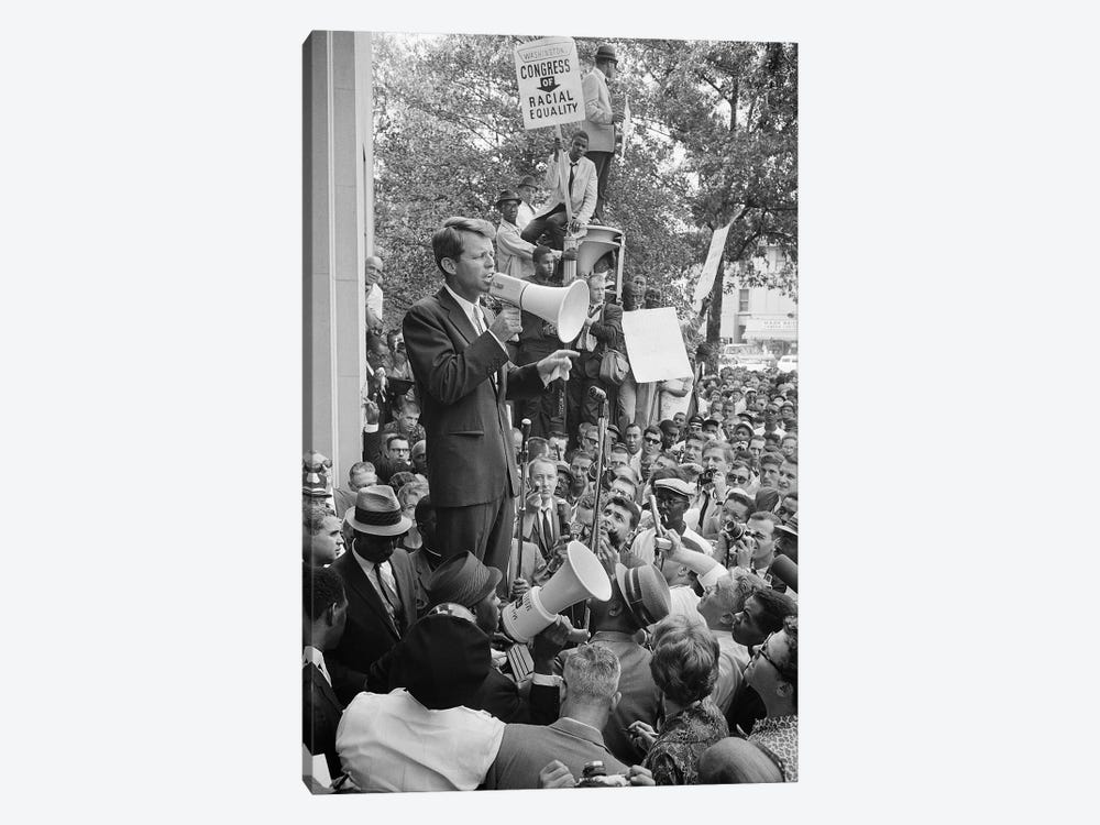 Robert F Kennedy by Warren K. Leffler 1-piece Canvas Wall Art