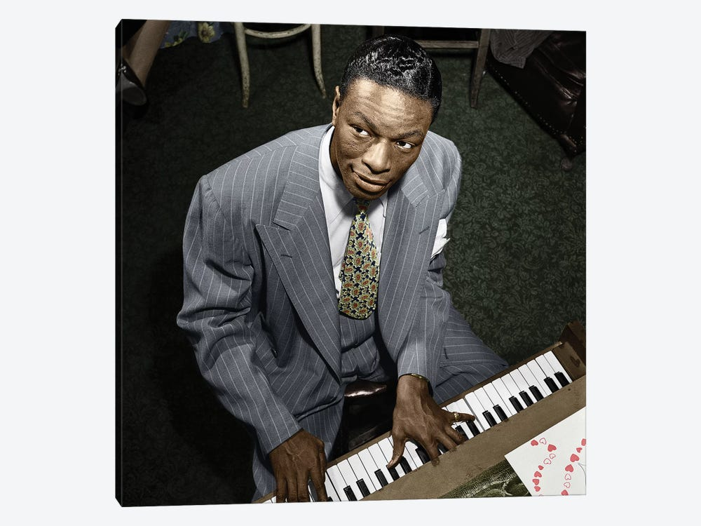 Nat King Cole (1919-1965) by William P. Gottlieb 1-piece Canvas Art Print