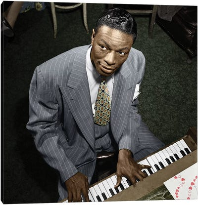 Nat King Cole (1919-1965) Canvas Art Print