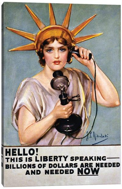 War Poster, C1918 Canvas Art Print