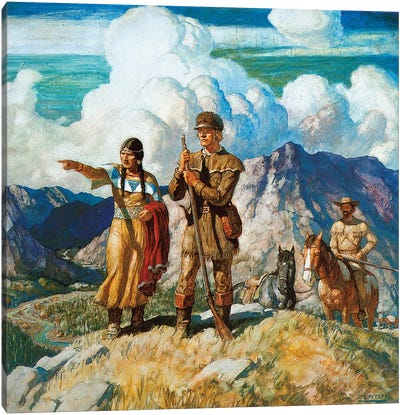 Wyeth: Lewis And Clark Canvas Art Print